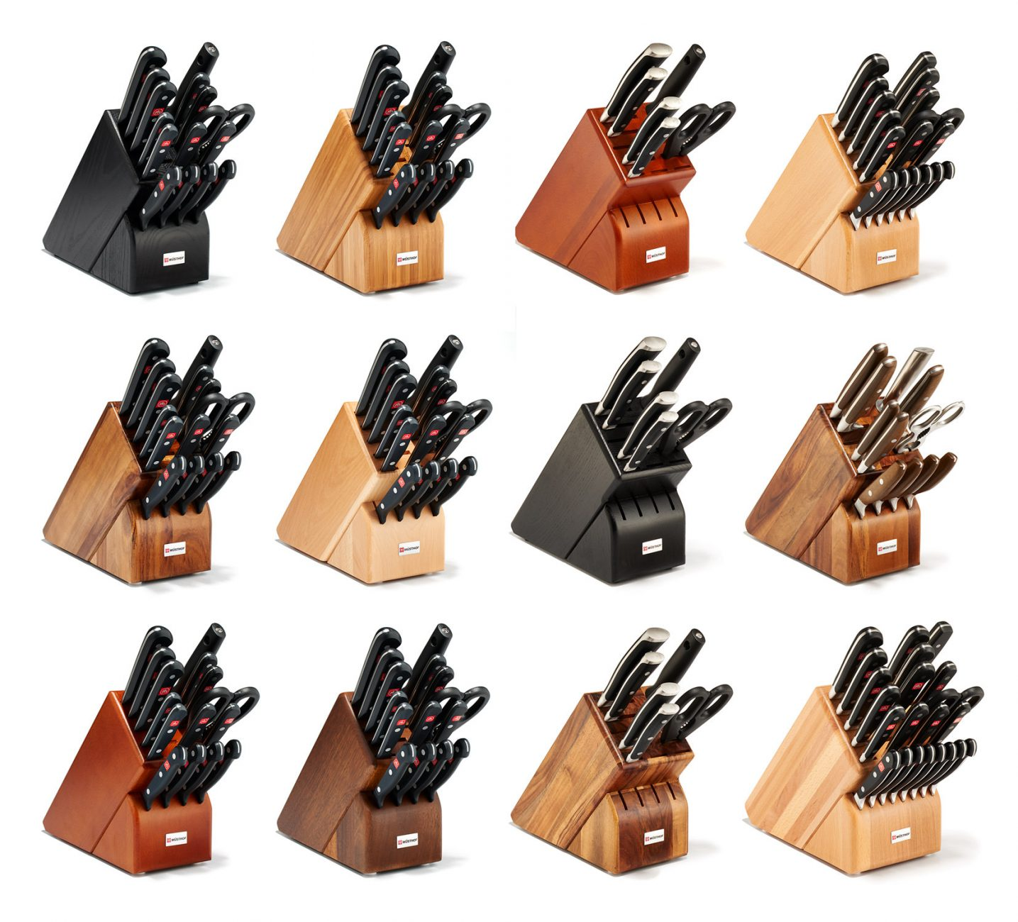 wusthof knife block sets; product photography by jeff cords